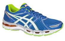 Asics Men's Gel Kayano 19 blue/white/neon yellow